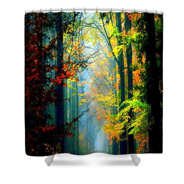 Autumn Trails In Georgia Shower Curtain