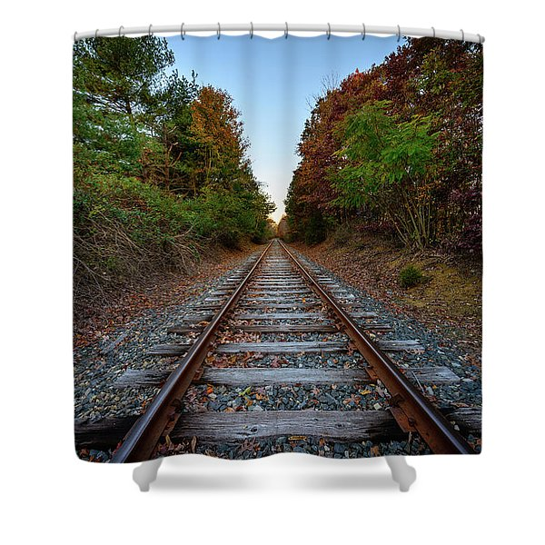Autumn Train Shower Curtain