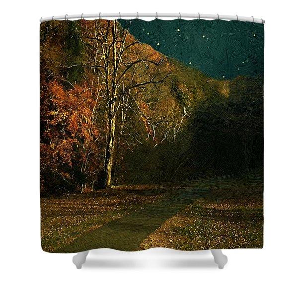 Autumn Tunnel Shower Curtain