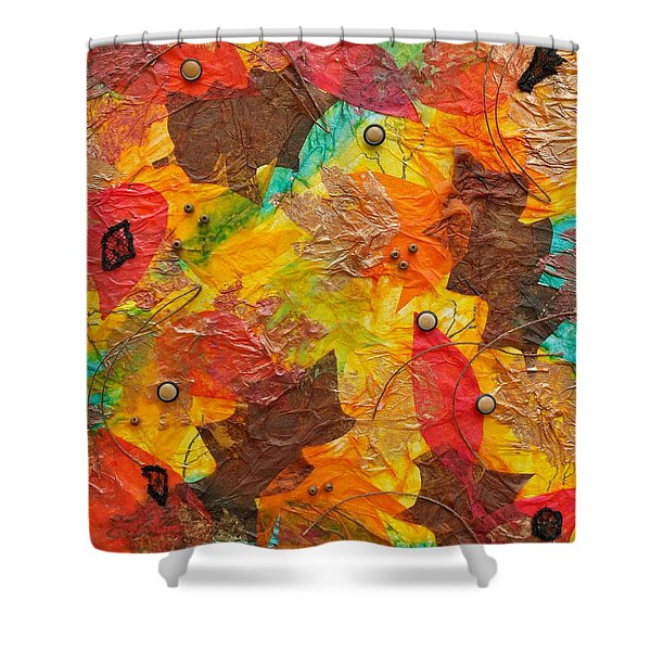Autumn Leaves Underfoot Shower Curtain