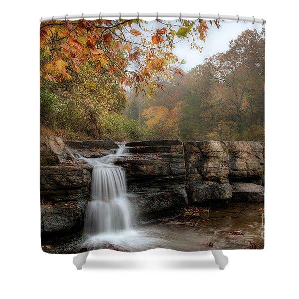 Autumn Water Shower Curtain