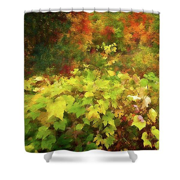 Autumn Watercolor Shower Curtain