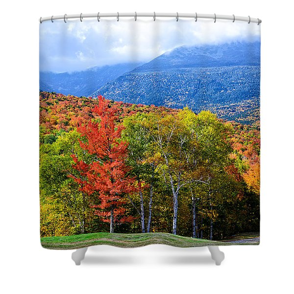 Autumn White Mountains Nh Shower Curtain