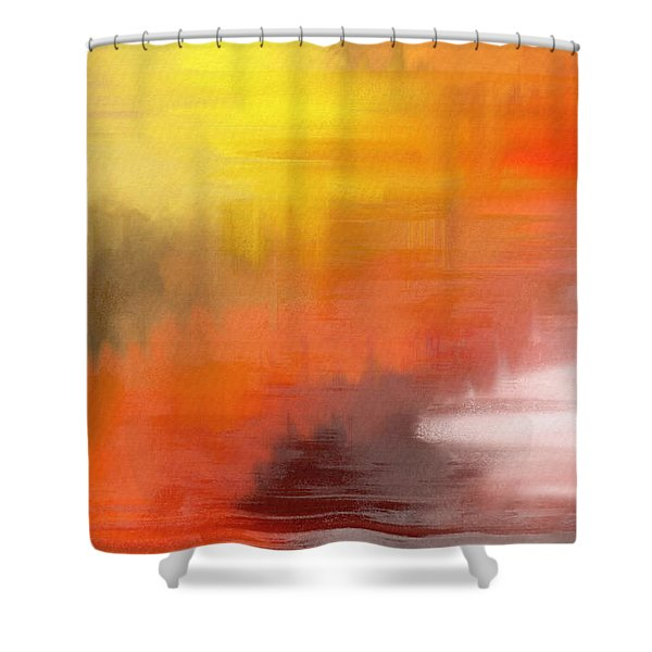Autumnal Abstract  Shower Curtain