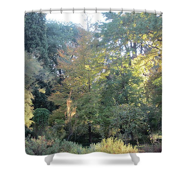 Autumnal Delight Madrid Shower Curtain