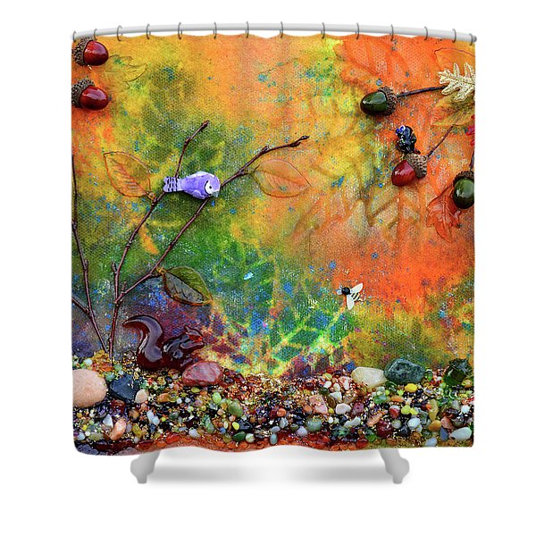 Autumnal Enchantment Shower Curtain