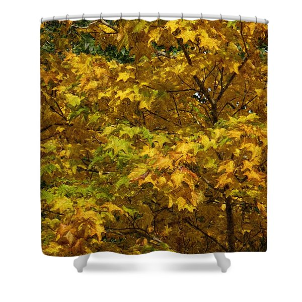 Autumnal Leaves And Trees 2 Shower Curtain