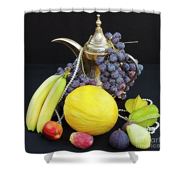 Shower Curtain featuring the photograph Symphony Of Forbidden Fruits by Silva Wischeropp