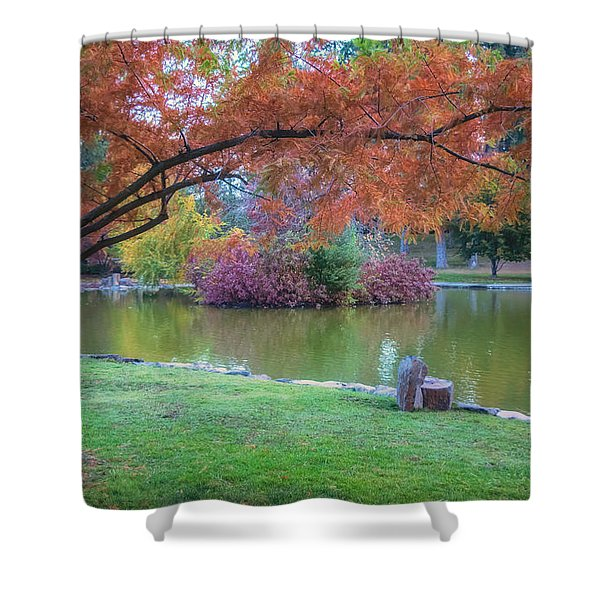 Autumn's Embrace Shower Curtain