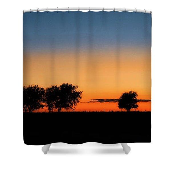 Autumn's Golden Glow Shower Curtain