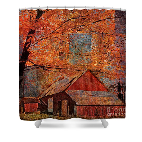 Autumn's Slate 2015 Shower Curtain