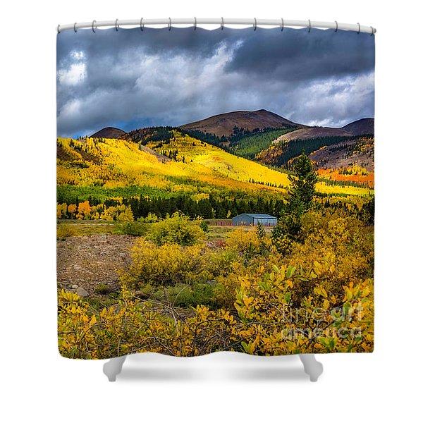Autumn's Smile Shower Curtain
