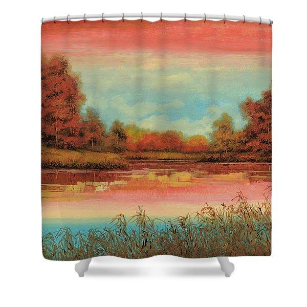 Autunno Sul Lago Shower Curtain
