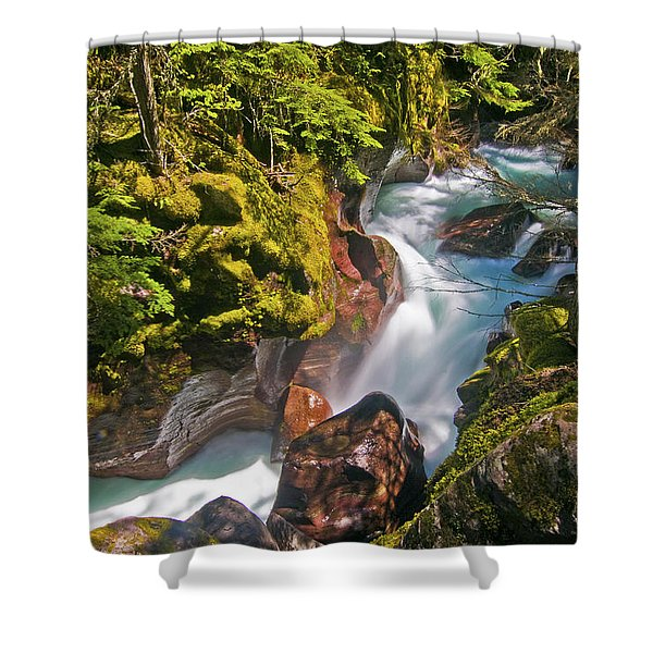 Avalanche Gorge Shower Curtain