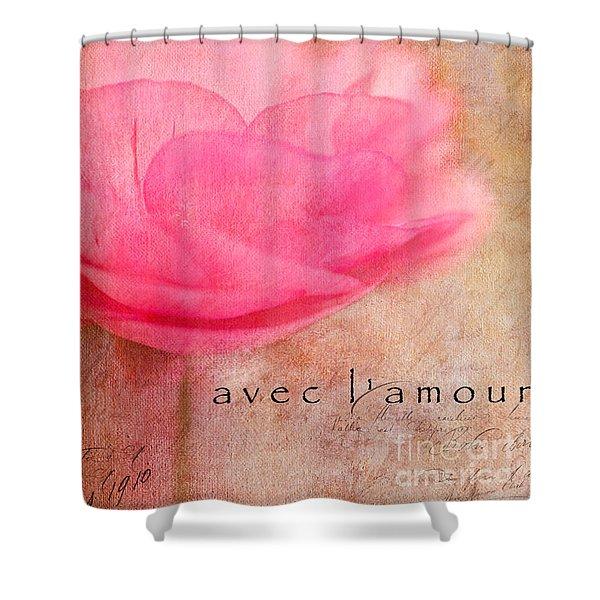 Avec L'amour Shower Curtain