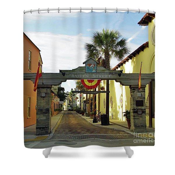 Aviles Street Shower Curtain