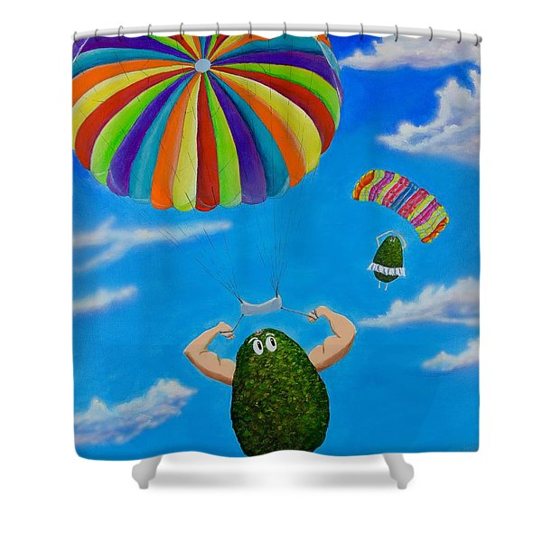 Avocado's From Heaven Shower Curtain
