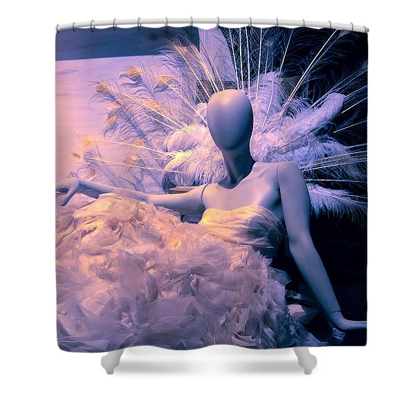 Awaiting The Next Party Shower Curtain
