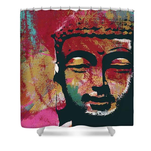 Awakened Buddha 4- Art By Linda Woods Shower Curtain