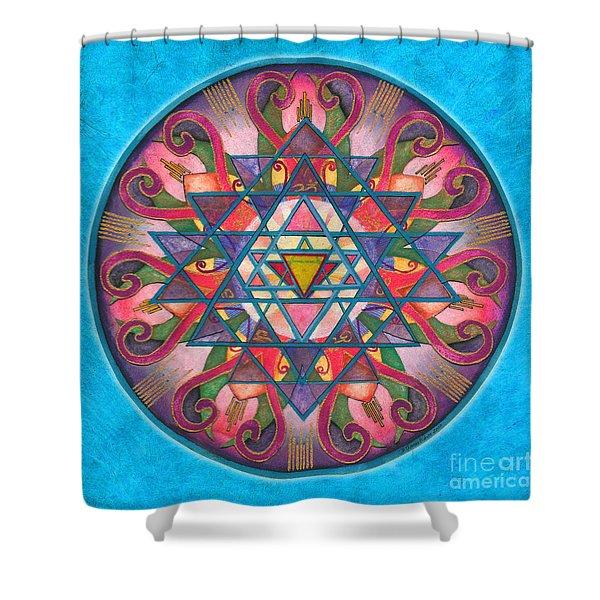 Awareness Mandala Shower Curtain