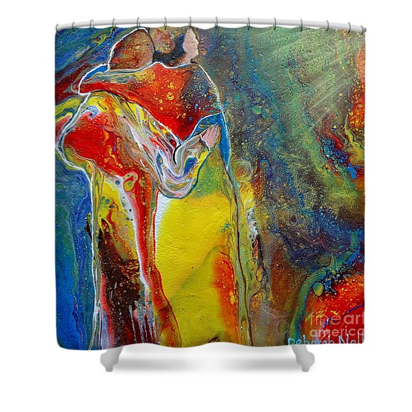 Shower Curtain featuring the painting Awesome God by Deborah Nell