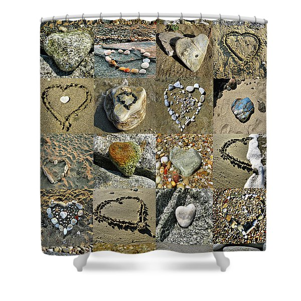Awesome Hearts Found In Nature - Valentine S Day Shower Curtain