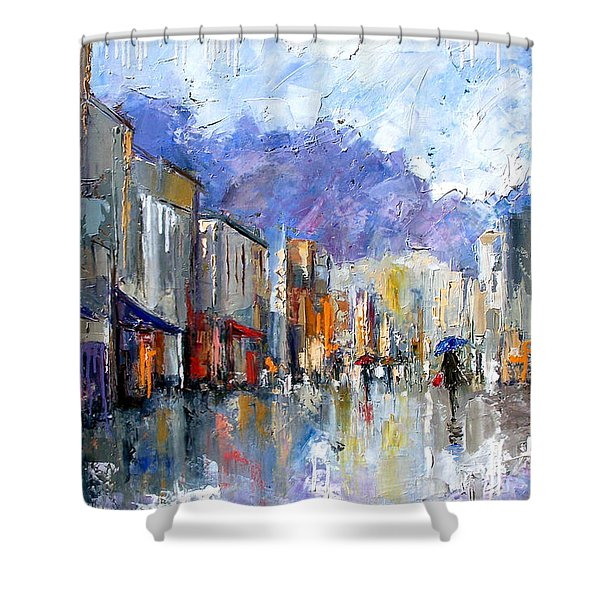 Awnings Shower Curtain by Debra Hurd