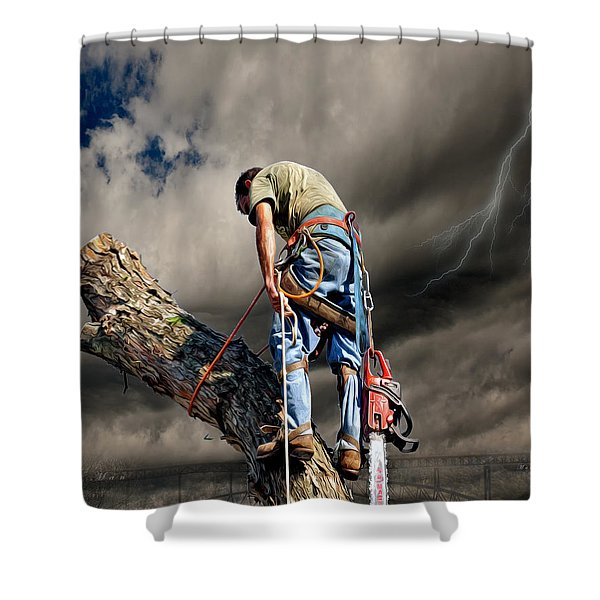 Ax Man Shower Curtain