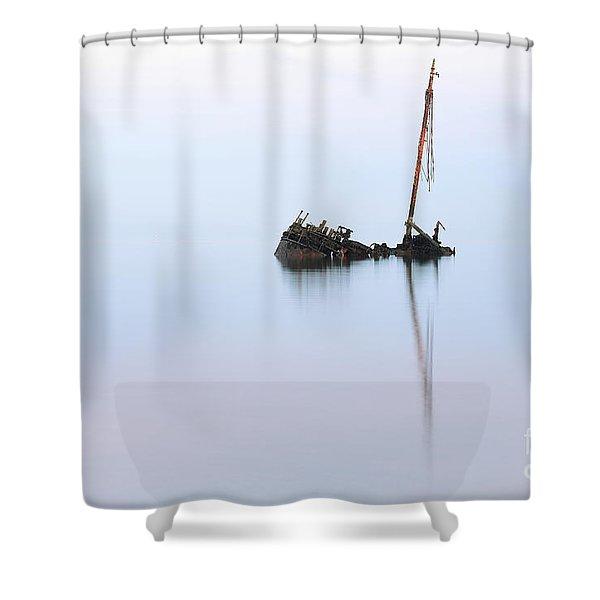 Ayrshire Shipwreck In Sunrise Ref3342 Shower Curtain