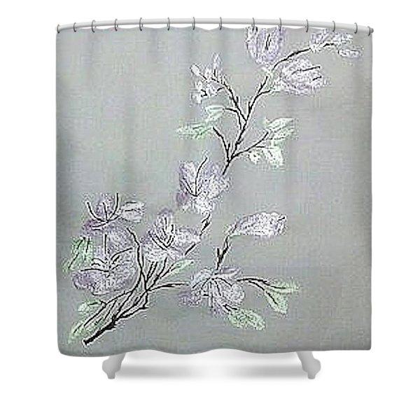 Azaleas Blooming Shower Curtain