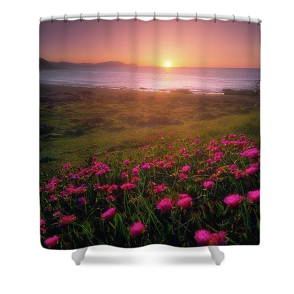 Azkorri In Springtime Shower Curtain