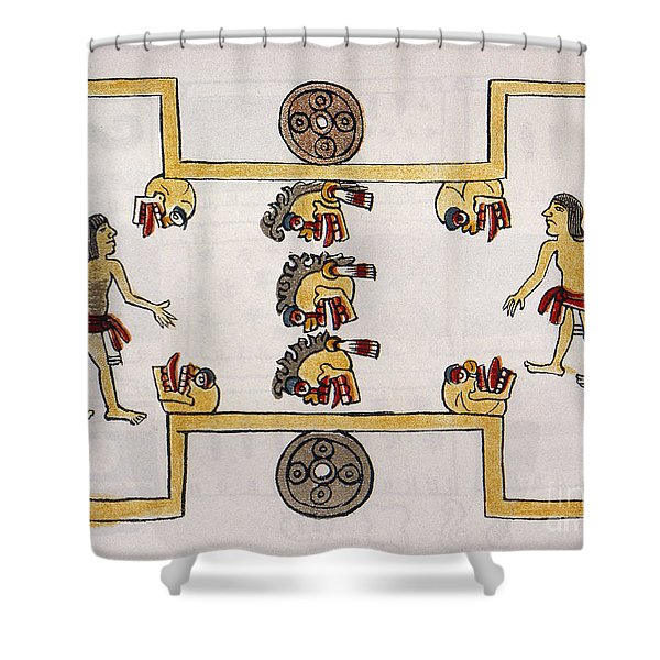 Aztec Ball Game Shower Curtain
