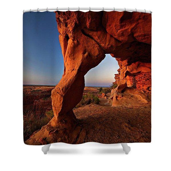 Aztec Butte Shower Curtain