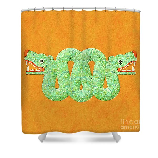 Aztec Serpent Shower Curtain