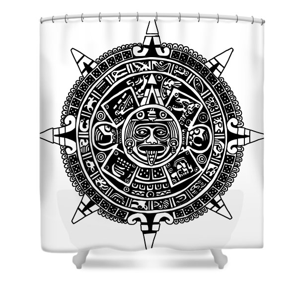 Aztecs Calendar Shower Curtain