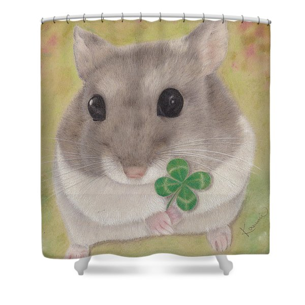 Azuki And A Four-leaf Clover Shower Curtain