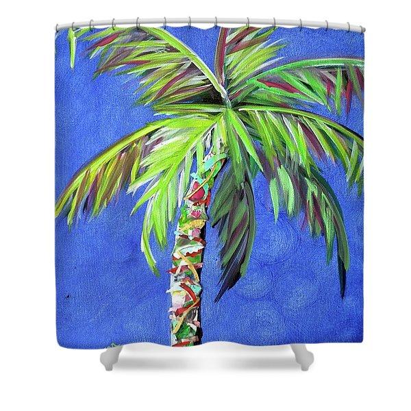Azul Palm Shower Curtain