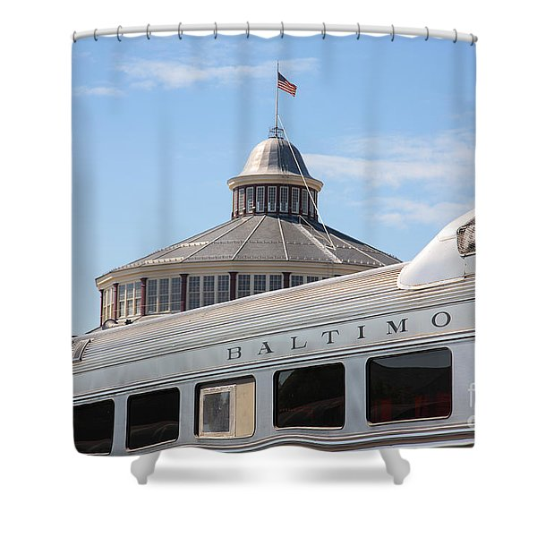 B And O Railroad Museum In Baltimore Maryland Shower Curtain