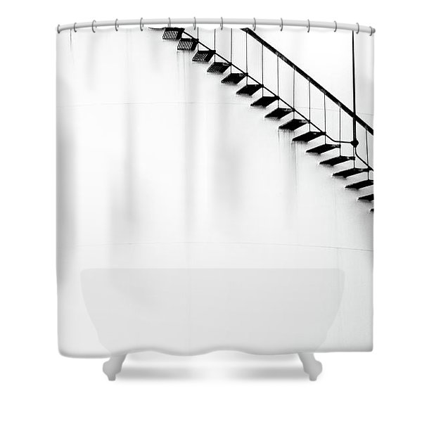 B And W Stairs Shower Curtain