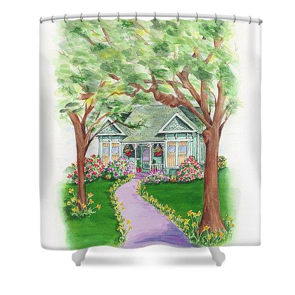 B Street  Shower Curtain