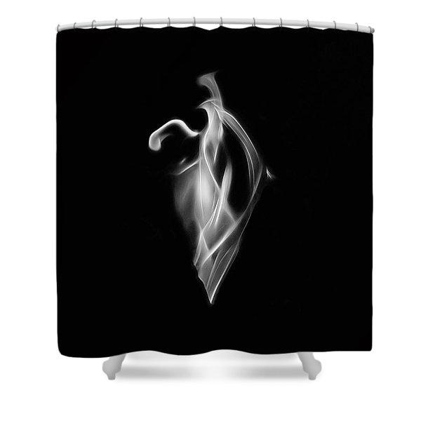 B/w Flame 7092 Shower Curtain