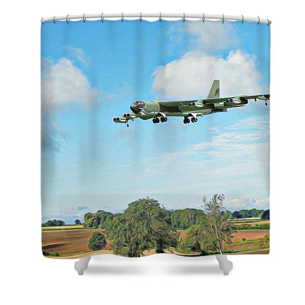 B52 Stratofortress -2 Shower Curtain
