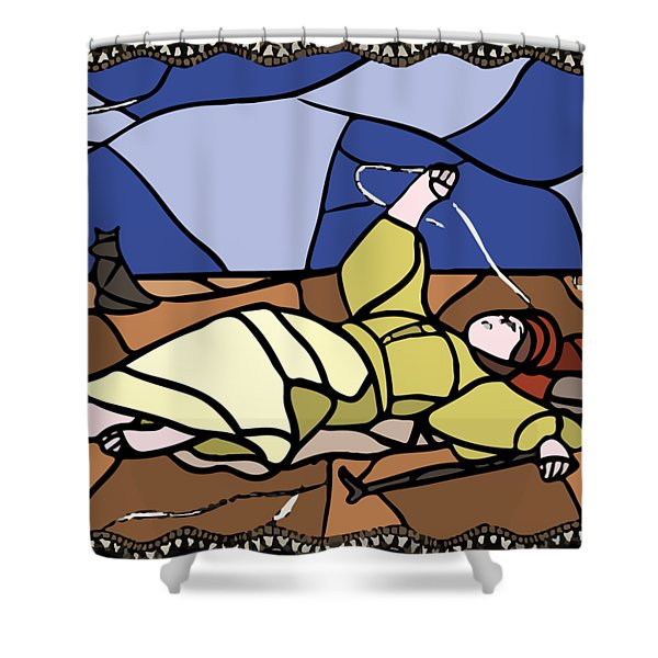 Babie Lato Stained Glass Version Shower Curtain