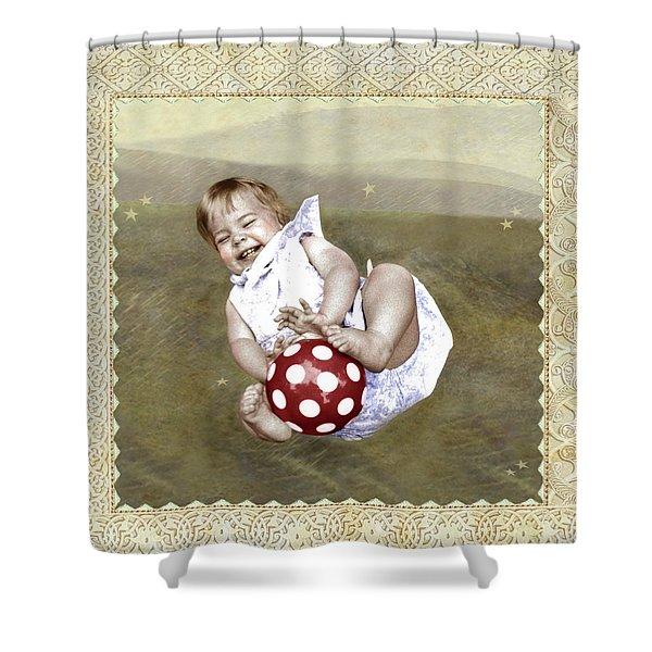 Baby Ball Shower Curtain