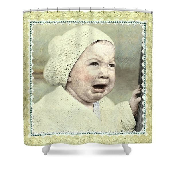 Baby Cries Shower Curtain
