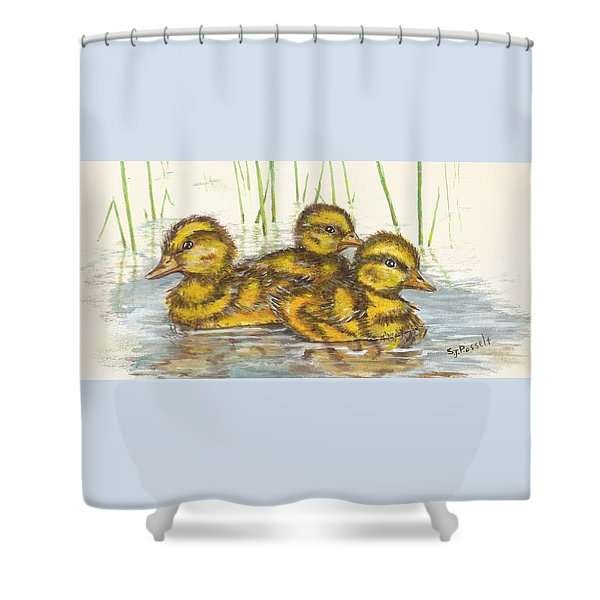Baby Ducks For Ma Shower Curtain
