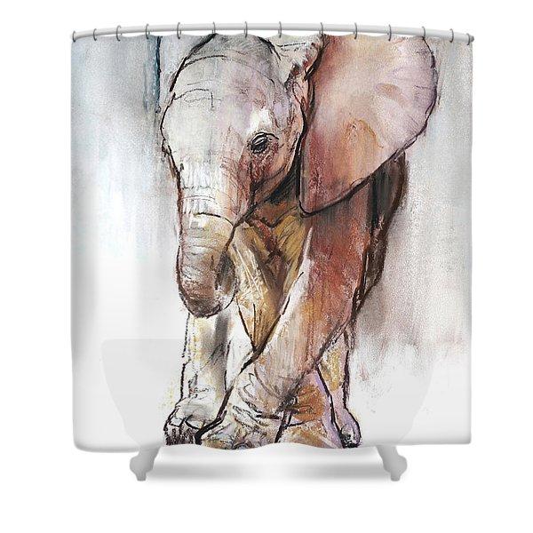Baby Elephant Loisaba Shower Curtain