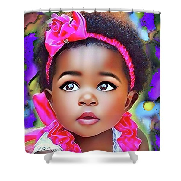 Baby Girl Shower Curtain