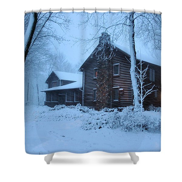 Baby Its Cold Outside Shower Curtain by Kristin Elmquist