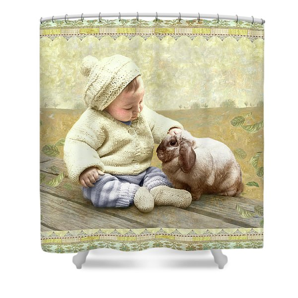 Baby Pats Bunny Shower Curtain